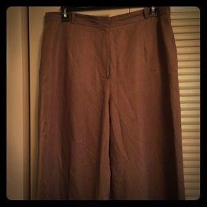 Talbots Italian Made Viscose and Linen 18 pants